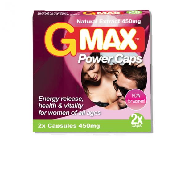 G-Max Pink Power Caps Estimulante